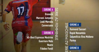 A2 Femminile: Conversano inserita nel girone A con Bruneck, Marconi Jumpers e Marsala